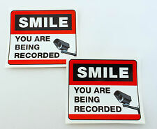 Set of 2  CAMERA WARNING STICKERS shops, offices, windows, doors, walls