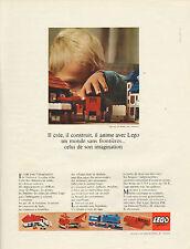 Publicité Advertising 1967  LEGO jeu jouet enfants