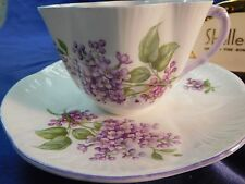 Shelley  DAINTY SHAPE  LILAC TIME   *  CUP AND  SAUCER   # 14293 - MAUVE TRIM