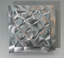 Metal Abstract Modern Silver Wall Art Sculpture Prizm 1  By Jon Allen