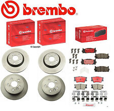 Genuine Brembo  Front & Rear Rotors + Brembo Brake Pads Toyota Camry Avalon