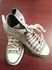 converse chuck taylor all star black and white strips hi top unisex trainers