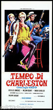 TEMPO DI CHARLESTON LOCANDINA CINEMA FILM GIULIO DIAMANTE SEXY PLAYBILL POSTER