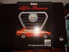 ALFA ROMEO autocodice AUTOCAR supplemento 1980 ALFASUD GIULIETTA ALFETTA GTV ALFA 6