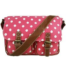 Ladies Oilcloth Satchel Shoulder Handbag Bag School A4 Crossbody Messenger Gifts