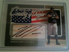 2011 ITG Heroes and Prospects Country of Origin Auto Silver Kentrail Davis HN/40