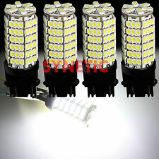4x 3157 3156 Xenon 6000K White 120-SMD Chip LED Brake Stop Tail Light Bulbs