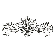 Metal Wall Art Elegant Leaf Spray XL 131cm