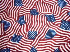FLANNEL flag patriotic military USA support fabric material stars American FLAG