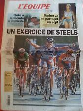 journal  l'équipe 23/07/99 CYCLISME TOUR DE FRANCE 1999 TOM STEELS BARBER