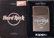 Hard Rock Cafe OSLO New Silver Chrome Finish ZIPPO Lighter New Box w/ Sticker!
