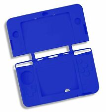 Blue Soft Silicone Gel Cover Case for NEW Nintendo 3DS Console UK Seller