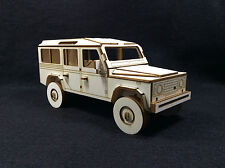 Wooden Land Rover 110 Long Wheel Base County 3D Model/Puzzle Kit