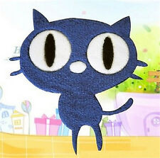 FD2698 Embroidery Cloth Iron On Patch Sewing Motif Applique DIY ~Eye Cat~ 1pc♫