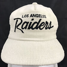 Vtg Los Angeles Raiders Script Corduroy Baseball Hat Sports Specialties The Cord
