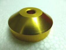 "Technics Gold Color Dome Cone Shape 45 RPM Record Turntable Adapter for 7"" Vinyl"