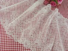 "8""*1yard delicate white Elastic/Spandex Soft Flower Floral lace trim"