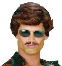 80er Jahre Sunny Boy Perücke dunkelbraun NEU - Karneval Fasching Perücke Haare