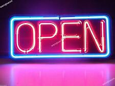 Open Business Store Window Door Neon Sign Real Glass Hand-Blown FREE SHIPPING