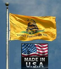 *USA Made GADSDEN DONT TREAD ON ME Rebel In/Outdoor FLAG Snake TEA PARTY Banner