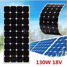 130W Flexible Solar Panel Generator Caravan Camping Power Mono Charging Kit 12V