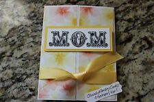 Stampin Up With Sympathy homemade greeting card. Water colors MOM