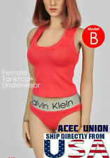 1/6 Women Tank Top & Underwear RED For Phicen Hot Toys Female Body  USA SELLER