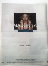 MADONNA 'Drowned World' 1998 UK Poster size Press ADVERT 16x12 inches