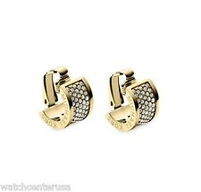 Michael Kors MKJ4086 Gold Clear Pave Huggie Clip Earring