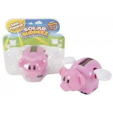 Solar Powered Pig Wobbler Toy - Flying Kids Childrens Fun Novelty Mini Moving