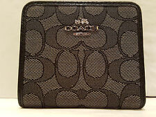 NWT! Coach Black Signature Small Wallet Bag F53732