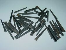 Vintage OLD SQUARE CUT 1 1/2 inch NAILS STEEL Antique Trunk nails Qty 50