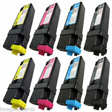 8 Pack Toner Cartridge Set for Xerox Phaser 6125 6125N KCMY 106R01334 106R01333