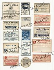 Vintage Drug Store Pharmacy Meds  Labels  FH421   Reproduction
