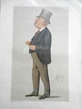 Original Vanity Fair Print of Sir Thomas Sutherland, HSBC, 1887 (Inc Magazine)