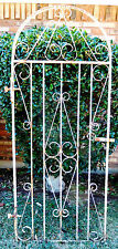 6' Tall 74 x 30 Vtg Arch Wrought Cast Iron Old English Garden Fencing Gate Latch