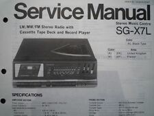 PANASONIC SG-X7L Stereo Music Centre unit Service manual wiring parts diagram