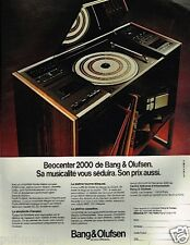 Publicité advertising 1981 Hi Fi Platine Beocenter 2000 Bang & Olufsen
