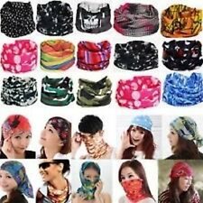 5 pc Bandana Bikers Motorcycle Riding Neck Face Mask Protection Tube Head Bands