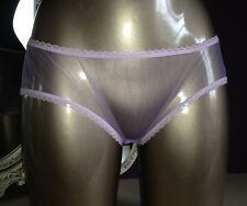 Style vintage neuf lilas doux sheer panties knickers nylon taille med 10 12 uk