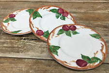 3 Bread Plates Franciscan Apple Made in California USA Figural 24677 American