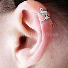 HOT ITEM Silver Naked Climber Ear Cuff Helix Cartilage Earring PM
