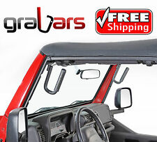 GraBars Grab Bars for 97-06 Jeep Wrangler TJ Front Seat Grab Handles Black 1018