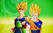 "Bardock and Goku 22X34""( Huge Gloss Wallposter ) - FAST SHIPPING"
