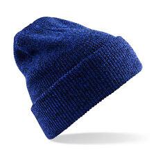 Bonnet effet Vintage Bleu antique ski sport hiver homme femme marque Beechfield