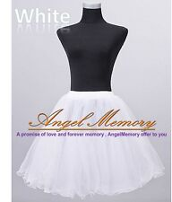 Crystal Yarn Knee Length Wedding Prom Crinoline Petticoat Slip Underskirt 50s