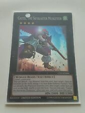 YUGIOH CASTEL, THE SKYBLASTER MUSKETEER SUPER LIMITED ED CT12-EN006 NEAR MINT