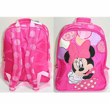 Princess Minnie Mouse Backpack Book Bag Tote Pink Polka Dots Disney Store NEW