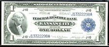 1918, $1 Fr 738 Large Size Frbn Fr 738 Kansas City-Super Gem