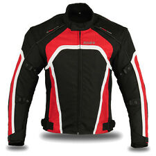 "Motorbike Motorcycle Waterproof Racing Cordura Textile Jacket Red XL (40""-42"")"